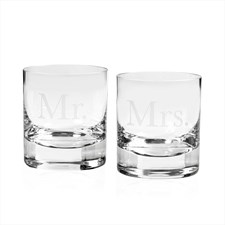 Moser Double Old Fashioned Mr and Mrs
