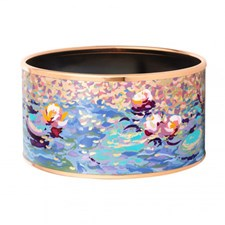 Freywille Claude Monet Orangerie Rose Diva Bordered Bangle, Medium