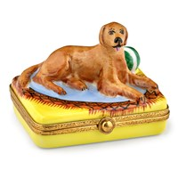 Golden Retriever Limoges Box
