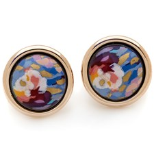 Freywille Claude Monet Orangerie Rose Cabochon Earrings