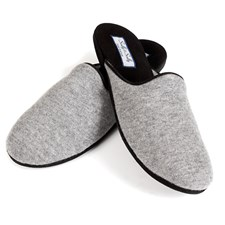 Men's Cashmere & Suede Slippers