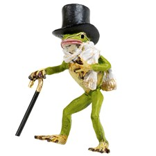 Austrian Bronze Frog with Scarf & Top Hat