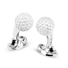 Sterling Silver Golf Ball Cufflinks