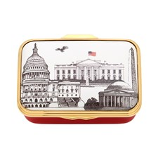 Halcyon Days Washington Landmarks Enamel Box