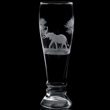 Queen Lace Crystal Pilsner Glasses, African Wildlife