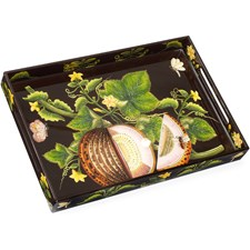 Brookshaw Melon Rectangular Lacquered Trays