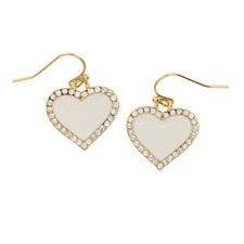 Halycon Days Heart Sparkle Earrings