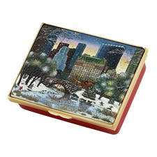 Halcyon Days 2019 New York in the Snow Enamel Box