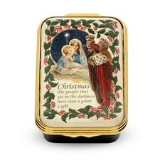 Halcyon Days We Three Kings Enamel Box
