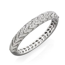 18k White Gold Diamond Zig-Zag Bracelet
