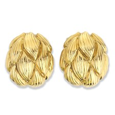 18K YG Artichoke Earrings
