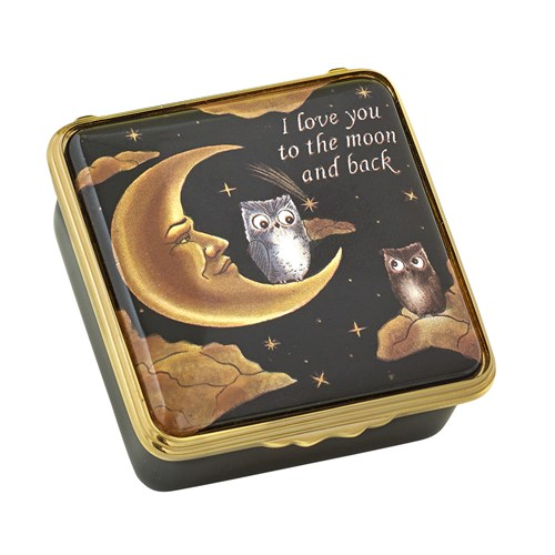 Halcyon Days To the Moon and Back Enamel Box
