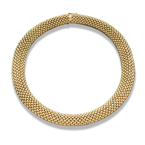 18k Gold Mesh Necklace