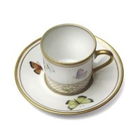 Filet A Papillons Coffee Cup and Saucer