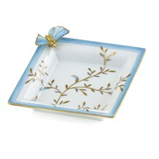 Blue Infinite Butterfly Square Vide Poche