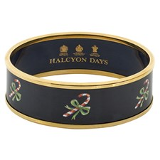 Halcyon Days Candy Cane on Navy Bangle