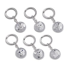 Sterling Silver Dog Key Chains