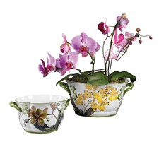 Oval Orchid Ceramic Planters