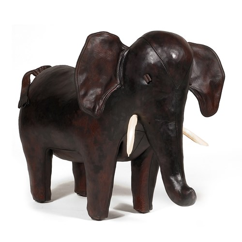 Leather Elephant Footstools | Leather Footstools | Seating | Furniture |  ScullyandScully.com