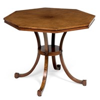 Burr Walnut Octagonal Tea Table