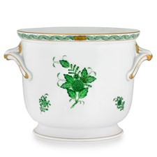Herend Medium Chinese Bouquet Green Cachepot
