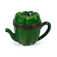 Green Pepper Teapot Limoges Box