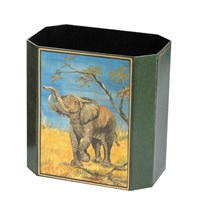 Handpainted Wastebasket Elephant