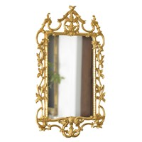 Scrolled Chippendale Gold Mirror