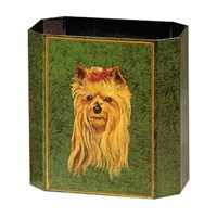 Painted Wastebasket Yorkshire Terrier
