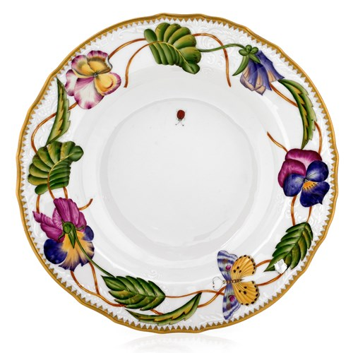 Anna Weatherley Pansies Rim Soup Bowl