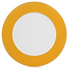 Raynaud Yellow Border Buffet Plate