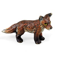 Austrian Bronze Young Fox Figurine