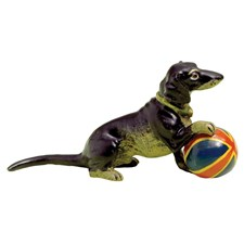 Austrian Bronze Dachshund with Ball Figurine