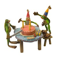 Bronze Birthday Party 3 Frogs