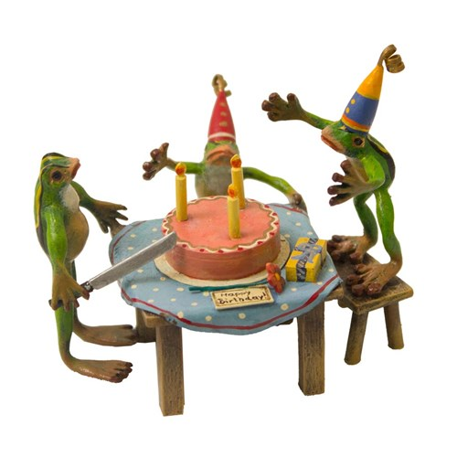 Austrian Bronze Birthday Party 3 Frogs