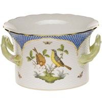 Herend Blue Border Cachepot with Handles