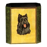 Painted Wastebasket Scottish Terrier