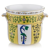 Herend Yellow Dynasty Cachepot with Handles