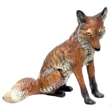 Austrian Bronze Sitting Fox Figurine