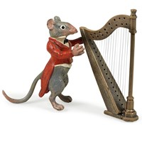 Austrian Bronze Mouse with Harp