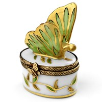 Mini Butterfly Box Green & Gold