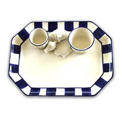 Blue and White Seashells Chip & Dip