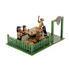 Austrian Bronze Dachshunds in Wine Garden Figurine