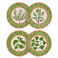Country Herb Salad Plates Set of 4