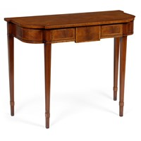 Mahogany D-End Console Table