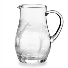 Queen Lace Water Pitcher with Giraffe