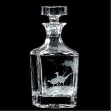 Queen Lace Whiskey Decanter with Pheasant