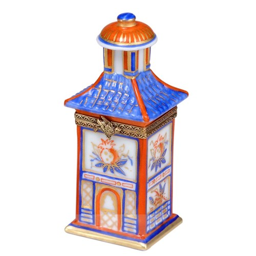 Blue Pagoda Limoges Box