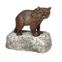 Austrian Bronze Bear On Rock