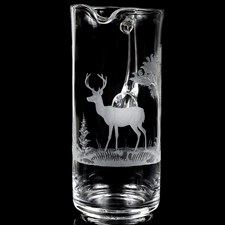 Queen Lace Crystal Martini Pitcher, White Tailed Deer